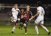 20 March 2018; Conor McCormack of Cork City in action against Dylan Watts of Bohemians during the SSE Airtricity League Premier Division match between Bohemians and Cork City at Dalymount Park in Dublin. Photo by Sam Barnes/Sportsfile