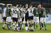 20 March 2018; Referee Ben Connolly surrounded by players from both sides after an incident during the SSE Airtricity League Premier Division match between Dundalk and Derry City at Oriel Park in Dundalk, Louth. Photo by Oliver McVeigh/Sportsfile