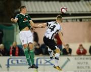 20 March 2018; Eoin Toal of Derry City in action against Dane Massey of Dundalk  during the SSE Airtricity League Premier Division match between Dundalk and Derry City at Oriel Park in Dundalk, Louth. Photo by Oliver McVeigh/Sportsfile