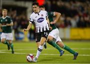 20 March 2018; Jamie McGrath of Dundalk in action against Eoin Toal of Derry City during the SSE Airtricity League Premier Division match between Dundalk and Derry City at Oriel Park in Dundalk, Louth. Photo by Oliver McVeigh/Sportsfile