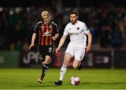 20 March 2018; Aaron Barry of Cork City in action against Dylan Watts of Bohemians during the SSE Airtricity League Premier Division match between Bohemians and Cork City at Dalymount Park in Dublin. Photo by Sam Barnes/Sportsfile
