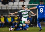 20 March 2018; Aaron Bolger of Shamrock Rovers is tackled by Cian Coleman of Limerick during the SSE Airtricity League Premier Division match between Shamrock Rovers and Limerick at Tallaght Stadium in Dublin. Photo by Harry Murphy/Sportsfile