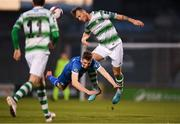 20 March 2018; Connor Ellis of Limerick in action against Ally Gilchrist of Shamrock Rovers during the SSE Airtricity League Premier Division match between Shamrock Rovers and Limerick at Tallaght Stadium in Dublin. Photo by Harry Murphy/Sportsfile