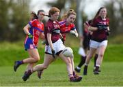 20 April 2018; Olivia Murphy of Loreto, Cavan in action against ISK, Killorgin, Kerry during the Lidl All Ireland Post Primary School Junior A Final match between ISK, Killorgin, Kerry and Loreto, Cavan at St. Rynagh's in Banagher, Co. Offaly. Photo by Matt Browne/Sportsfile
