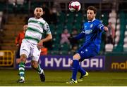 20 March 2018; Ethan Boyle of Shamrock Rovers in action against Barry Maguire of Limerick during the SSE Airtricity League Premier Division match between Shamrock Rovers and Limerick at Tallaght Stadium in Dublin. Photo by Harry Murphy/Sportsfile
