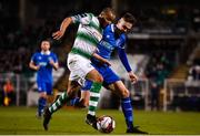 20 March 2018; Ethan Boyle of Shamrock Rovers in action against Cian Coleman of Limerick during the SSE Airtricity League Premier Division match between Shamrock Rovers and Limerick at Tallaght Stadium in Dublin. Photo by Harry Murphy/Sportsfile