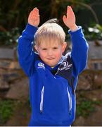 21 April 2018; Leinster supporter Donnchadh Martin, age 4, from Wexford, prior to the European Rugby Champions Cup Semi-Final match between Leinster Rugby and Scarlets at the Aviva Stadium in Dublin. Photo by Sam Barnes/Sportsfile