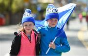 21 April 2018; Leinster supporters Caoimhe and Oisin Moore, from Wexford, ahead of the European Rugby Champions Cup Semi-Final match between Leinster Rugby and Scarlets at the Aviva Stadium in Dublin. Photo by Ramsey Cardy/Sportsfile