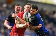 21 April 2018; Robbie Henshaw of Leinster in action against Hadleigh Parkes of Scarlets during the European Rugby Champions Cup Semi-Final match between Leinster Rugby and Scarlets at the Aviva Stadium in Dublin. Photo by Ramsey Cardy/Sportsfile