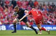 21 April 2018; Dan Leavy of Leinster is tackled by Rob Evans of Scarlets during the European Rugby Champions Cup Semi-Final match between Leinster Rugby and Scarlets at the Aviva Stadium in Dublin. Photo by Sam Barnes/Sportsfile