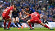 21 April 2018; Robbie Henshaw of Leinster is tackled by Dan Jones of Scarlets during the European Rugby Champions Cup Semi-Final match between Leinster Rugby and Scarlets at the Aviva Stadium in Dublin. Photo by Ramsey Cardy/Sportsfile