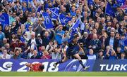 21 April 2018; Jonathan Sexton of Leinster scores his side's fifth during the European Rugby Champions Cup Semi-Final match between Leinster Rugby and Scarlets at the Aviva Stadium in Dublin. Photo by Brendan Moran/Sportsfile