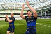21 April 2018; Jordi Murphy of Leinster celebrates following their victory in the European Rugby Champions Cup Semi-Final match between Leinster Rugby and Scarlets at the Aviva Stadium in Dublin. Photo by Ramsey Cardy/Sportsfile