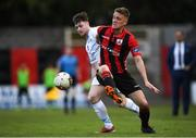 21 April 2018; Michael McDonnell of Longford Town in action against Jason McClelland of UCD during the SSE Airtricity League First Division match between Longford Town and UCD at the City Calling Stadium in Lissanurlan, Longford. Photo by Harry Murphy/Sportsfile