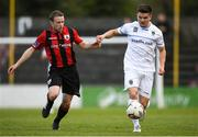 21 April 2018; Dean Zambra of Longford Town in action against Daire O'Connor of UCD during the SSE Airtricity League First Division match between Longford Town and UCD at the City Calling Stadium in Lissanurlan, Longford. Photo by Harry Murphy/Sportsfile