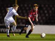 21 April 2018; Aodh Dervin of Longford Town in action against Paul Doyle of UCD during the SSE Airtricity League First Division match between Longford Town and UCD at the City Calling Stadium in Lissanurlan, Longford. Photo by Harry Murphy/Sportsfile