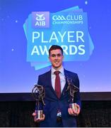 21 April 2018; AIB GAA Club Hurler of the year Sean Moran of Cuala with his award at the AIB GAA Club Player Awards at Croke Park in Dublin. Photo by Eóin Noonan/Sportsfile