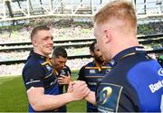 21 April 2018; Dan Leavy, left, and James Tracy of Leinster following the European Rugby Champions Cup Semi-Final match between Leinster Rugby and Scarlets at the Aviva Stadium in Dublin. Photo by Ramsey Cardy/Sportsfile