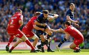 21 April 2018; Robbie Henshaw of Leinster is tackled by James Davies of Scarlets during the European Rugby Champions Cup Semi-Final match between Leinster Rugby and Scarlets at the Aviva Stadium in Dublin. Photo by Ramsey Cardy/Sportsfile