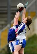 22 April 2018; Aisling Doonan of Cavan in action against Kate McGrath of Waterford during the Lidl Ladies Football National League Division 2 semi-final match between Waterford and Cavan at St Brendan's Park in Birr, Offaly. Photo by Ramsey Cardy/Sportsfile