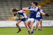 22 April 2018; Kate McGrath of Waterford is tackled by Aisling Doonan of Cavan during the Lidl Ladies Football National League Division 2 semi-final match between Waterford and Cavan at St Brendan's Park in Birr, Offaly. Photo by Ramsey Cardy/Sportsfile