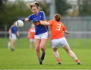 22 April 2018; Caoimhe Condon of Tipperary in action against Caoimhe Morgan of Armagh during the Lidl Ladies Football National League Division 2 semi-final match between Tipperary and Armagh at Coralstown Kinnegad GAA in Kinnegad, Westmeath. Photo by Piaras Ó Mídheach/Sportsfile