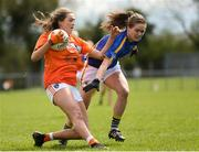 22 April 2018; Aimee Mackin of Armagh in action against Maria Curley of Tipperary during the Lidl Ladies Football National League Division 2 semi-final match between Tipperary and Armagh at Coralstown Kinnegad GAA in Kinnegad, Westmeath. Photo by Piaras Ó Mídheach/Sportsfile
