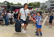 22 April 2018; Dan Carter of Racing 92 arrives prior to the European Rugby Champions Cup semi-final match between Racing 92 and Munster Rugby at the Stade Chaban-Delmas in Bordeaux, France. Photo by Brendan Moran/Sportsfile