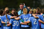 22 April 2018; Dublin manager Mick Bohan talks to his players before the Lidl Ladies Football National League Division 1 semi-final match between Dublin and Galway at Coralstown Kinnegad GAA in Kinnegad, Westmeath. Photo by Piaras Ó Mídheach/Sportsfile