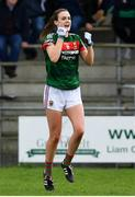 22 April 2018; Clodagh McManamon of Mayo celebrates at the final whistle of the Lidl Ladies Football National League Division 1 semi-final match between Cork and Mayo at St Brendan's Park in Birr, Offaly. Photo by Ramsey Cardy/Sportsfile