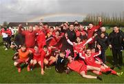 22 April 2018; Cork Youth League players and staff celebrate afterthe FAI Youth Interleague Cup Final match between Mayo Schoolboys & Youths Association Football League and Cork Youth League at Milebush Park in Castlebar, Mayo. Photo by Harry Murphy/Sportsfile