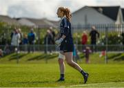 22 April 2018; Dublin goalkeeper Ciara Trant urges on her team-mates during the Lidl Ladies Football National League Division 1 semi-final match between Dublin and Galway at Coralstown Kinnegad GAA in Kinnegad, Westmeath. Photo by Piaras Ó Mídheach/Sportsfile