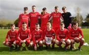 22 April 2018; Cork Youth League players pose for a photo prior to the FAI Youth Interleague Cup Final match between Mayo Schoolboys & Youths Association Football League and Cork Youth League at Milebush Park in Castlebar, Mayo. Photo by Harry Murphy/Sportsfile