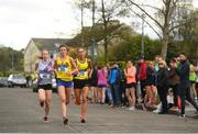 22 April 2018; A general view of the senior women's relay  event during the Irish Life Health National Road Relay Championships at Raheny in Dublin. Photo by Eóin Noonan/Sportsfile