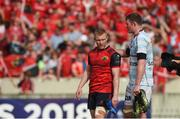 22 April 2018; Keith Earls of Munster with Donnacha Ryan of Racing 92 after the European Rugby Champions Cup semi-final match between Racing 92 and Munster Rugby at the Stade Chaban-Delmas in Bordeaux, France. Photo by Diarmuid Greene/Sportsfile