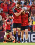 22 April 2018; Jean Kleyn, left, and Rory Scannell of Munster after the European Rugby Champions Cup semi-final match between Racing 92 and Munster Rugby at the Stade Chaban-Delmas in Bordeaux, France. Photo by Brendan Moran/Sportsfile