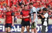 22 April 2018; Dave Kilcoyne of Munster with Donnacha Ryan of Racing 92 after the European Rugby Champions Cup semi-final match between Racing 92 and Munster Rugby at the Stade Chaban-Delmas in Bordeaux, France. Photo by Diarmuid Greene/Sportsfile