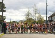 22 April 2018; A general view of the start of the senior men's relay event during the Irish Life Health National Road Relay Championships at Raheny in Dublin. Photo by Eóin Noonan/Sportsfile