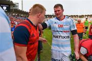 22 April 2018; Donnacha Ryan of Racing 92 with John Ryan of Munster after the European Rugby Champions Cup semi-final match between Racing 92 and Munster Rugby at the Stade Chaban-Delmas in Bordeaux, France. Photo by Diarmuid Greene/Sportsfile