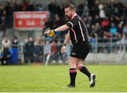 22 April 2018; Referee Séamus Mulvihill during the Lidl Ladies Football National League Division 1 semi-final match between Dublin and Galway at Coralstown Kinnegad GAA in Kinnegad, Westmeath. Photo by Piaras Ó Mídheach/Sportsfile