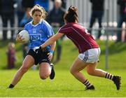 22 April 2018; Noëlle Healy of Dublin in action against Fabienne Cooney of Galway during the Lidl Ladies Football National League Division 1 semi-final match between Dublin and Galway at Coralstown Kinnegad GAA in Kinnegad, Westmeath. Photo by Piaras Ó Mídheach/Sportsfile