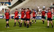 22 April 2018; Munster players including JJ Hanrahan, Niall Scannell, Peter O'Mahony, Stephen Archer, Keith Earls, Billy Holland, Dave Kilcoyne after the European Rugby Champions Cup semi-final match between Racing 92 and Munster Rugby at the Stade Chaban-Delmas in Bordeaux, France. Photo by Diarmuid Greene/Sportsfile
