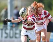 22 April 2018; Alise Mulhall of Tullow in action against Wicklow during the U16 Cup match between Tullow and Wicklow at Navan RFC in Meath. Photo by Matt Browne/Sportsfile