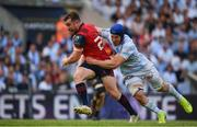 22 April 2018; JJ Hanrahan of Munster is tackled by Wenceslas Lauret of Racing 92 during the European Rugby Champions Cup semi-final match between Racing 92 and Munster Rugby at the Stade Chaban-Delmas in Bordeaux, France. Photo by Brendan Moran/Sportsfile