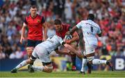 22 April 2018; Jean Kleyn of Munster is tackled by Donnacha Ryan of Racing 92 during the European Rugby Champions Cup semi-final match between Racing 92 and Munster Rugby at the Stade Chaban-Delmas in Bordeaux, France. Photo by Brendan Moran/Sportsfile