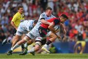 22 April 2018; Conor Murray of Munster is tackled by Donnacha Ryan of Racing 92 during the European Rugby Champions Cup semi-final match between Racing 92 and Munster Rugby at the Stade Chaban-Delmas in Bordeaux, France. Photo by Brendan Moran/Sportsfile