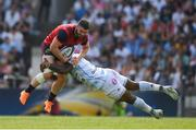 22 April 2018; Sam Arnold of Munster is tackled by Virimi Vakatawa of Racing 92 during the European Rugby Champions Cup semi-final match between Racing 92 and Munster Rugby at the Stade Chaban-Delmas in Bordeaux, France. Photo by Brendan Moran/Sportsfile