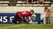 22 April 2018; Andrew Conway of Munster scores his side's third try during the European Rugby Champions Cup semi-final match between Racing 92 and Munster Rugby at the Stade Chaban-Delmas in Bordeaux, France. Photo by Diarmuid Greene/Sportsfile