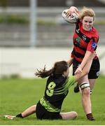22 April 2018; Niamh Hickey of Tullamore is tackled by Niamh Hopkins of PortDara during the 18s Plate match between PortDara and Tullamore at Navan RFC in Meath. Photo by Matt Browne/Sportsfile