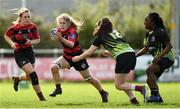 22 April 2018; Niamh Hickey of Tullamore in action against PortDara during the 18s Plate match between PortDara and Tullamore at Navan RFC in Meath. Photo by Matt Browne/Sportsfile